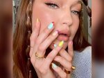 Gigi Hadid S Bubble Braids And Colourful Nail Art On Her Birthday