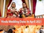 Auspicious Wedding Dates For April