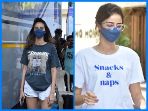 Ananya Panday Spotted In Cool Tshirts