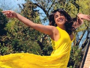 Priyanka Chopra Jonas Picture In A Yellow Dress On Instagram
