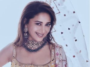 Dance Deewane Judge Madhuri Dixit S Yellow Gharara Set On Instagram