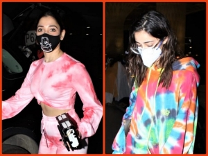 Ananya Panday And Tamannaah Bhatia Flaunt Tie Dye Outfits At The Airport