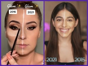 The #2016Vs2021 Makeup Challenge Takes Internet By Storm; Shows The Evolution In Makeup Trends