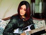 Nargis Fakhri S Burgundy Bob Hair And Fiery Red Eyeshadow On Instagram