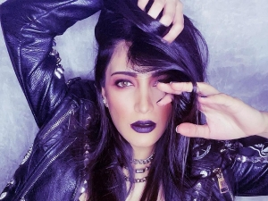 Shruti Haasan Flaunts Bold Lipstick And Edge Makeup Look In Latest Pictures