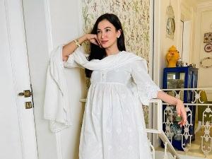 Gauahar Khan S Gorgeous White Mulmul Kurta Set For Eid Celebrations On Her Instagram