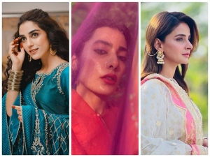 Saba Qamar And Other Actresses From Pakistan Flaunt Their Outfits On Eid Ul Fitr