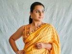 Vidya Balan S Yellow Saree And It S Price From Sherni Promotional Round