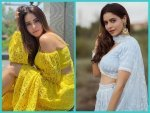 Aamna Sharif S Bright Yellow Co Ords And Powder Blue Lehenga On Instagram