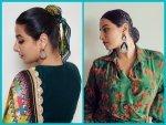 Vidya Balan S Stylish Hair Bun Hairstyles For Sherni Promotions