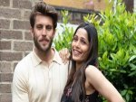 Freida Pinto Announces Pregnancy With Cory Tran In A Black Printed Dress