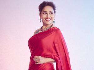 Madhuri Dixit S Look In Multicolour Striped Saree And It S Price