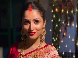 Newly Wed Yami Gautam Flaunts Her After Marriage Look In Red Vermilion Tiny Bindi And Bright Lipst