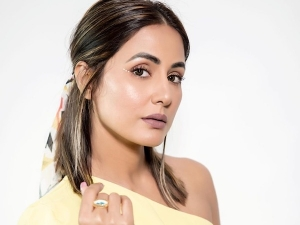 Hina Khan S Dewy Makeup Look And Cute Half Updo Hairstyle On Instagram