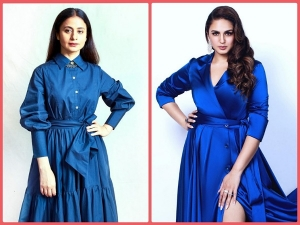 Huma Qureshi And Rasika Dugal In Blue Outfits For Their Film Promotions