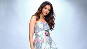 Rakul Preet Singh In Multicolour Printed Dress For The Latest Photoshoot