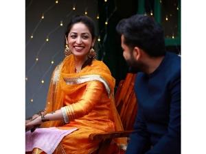 Yami Gautam S Orange Suit For Mehendi Make Us Think Of Deepika Padukone S Orange Suit
