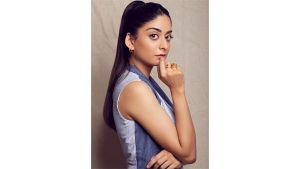 A Suitable Boy Actress Tanya Maniktala In A Pantsuit For Feels Like Ishq Promotions
