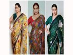 Vidya Balan S Lovely Collection Of Animal Printed Sarees From Sherni Promotions