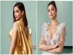 Deepika Padukone S Ruffled Grey Gown And Gold Satin Gown For Asian Paints