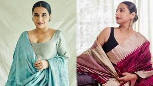 Sherni Actress Vidya Balan S Latest Sarees And Suits On Instagram
