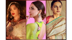 Kiara Advani Vidya Balan And Nora Fatehi In Sarees On Instagram