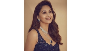 Madhuri Dixit Nene Flaunts Blue Traditional Outfits On Instagram