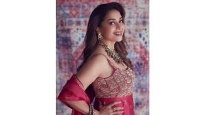 Madhuri Dixit Nene Looks Radiant In Her Rani Pink Sharara Set On Instagram