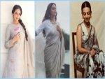 Radhika Apte Dia Mirza And Esha Deol S Grey Outfits On Navratri