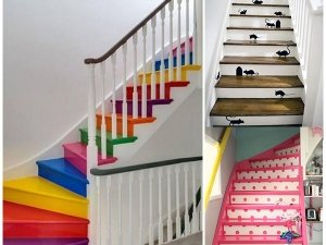 Creative Ways To Colour Your Stairs