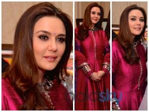 Preity Zinta Dons A Manish Malhotra Suit