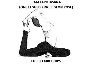 Rajakapotasana For Flexible Hips