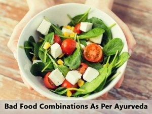 Ayurvedic Bad Food Combinations
