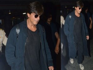 SRK Goes Unique With Casuals At Airport