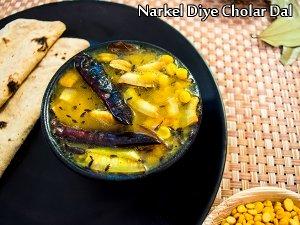 Narkel Diye Cholar Dal Recipe