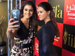 Kajol Pulls Off A Semi-Ethnic Look As She Unveils Her Wax Statue