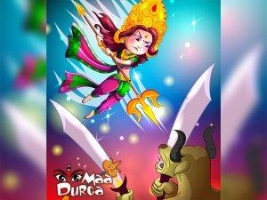 How Goddess Durga Attacked The Demon Durgasura