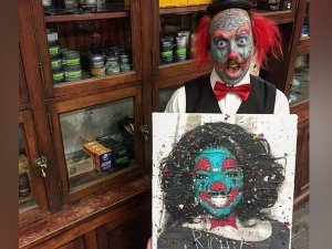 He Wanted To Be A Clown, So He Got Face Tattoos And Silicone Implants Done