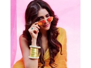 Wow! Karishma Tanna Inspired Us To Buy A Vibrant Yellow-hued Sari