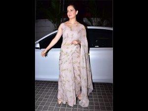 Kangana Ranaut Looks Dewy Fresh In Her Latest Traditional Vintage Sari
