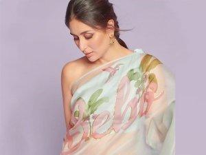 Kareena Kapoor Khan Flaunts Her Bebo Printed Sari And You Just Can't Miss It