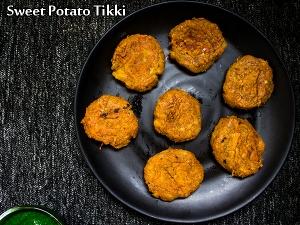 North Indian Special- Sweet Potato Tikki Recipe
