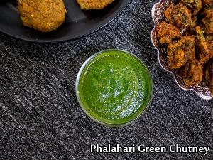 North Indian Special- Phalahari Green Chutney Recipe