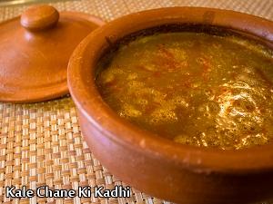 Kale Chane Ki Kadhi Recipe