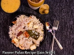 Paneer Pulao Recipe (Jain Style)