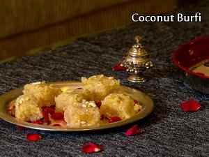 North/South Indian Special- Coconut Burfi Recipe