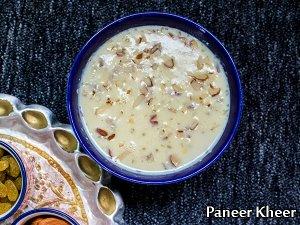 North Indian Special- Paneer Kheer Recipe