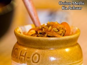 Onion Methi Ka Achaar Recipe