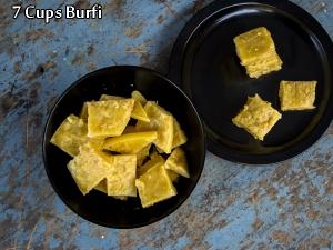 7 Cups Burfi Recipe