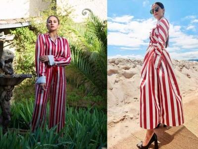 Sonam and Huma's Same Stripes At Cannes
